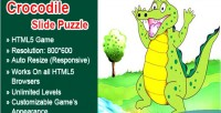 Slide crocodile game html5 puzzle