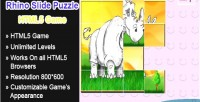 Slide rhino game html5 puzzle