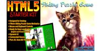 Sliding html5 puzzle kit starter game