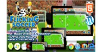 Soccer flicking game sport html5