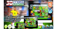 Soccer slot machine html5 game casino premium soccer