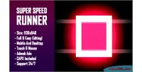 Speed super runner html5 game version mobile construct capx 2