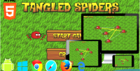 Spiders tangled html5 game puzzle phaser