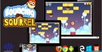 Squirrel bouncing html5 game
