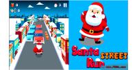 Street santa game html5 run