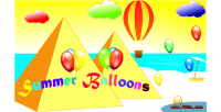 Summer balloons html5 mobile capx game