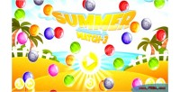 Summer match 3 html5 game android capx admob