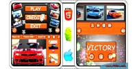 Supercars puzzle 100 complete admob game