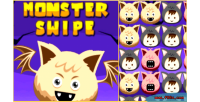 Swipe monster html5 3 link halloween