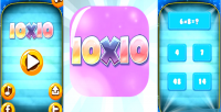 Teach 10x10 math a children game s admob facebook & twitter