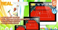 Tennis real game sport html5