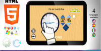 The adjust clock game education html5