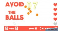The avoid game html5 balls