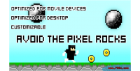 The avoid pixel rocks game html5 construct capx 2