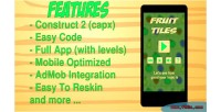 Tiles fruit html5 game 2 construct admob app mobile