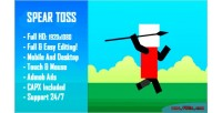 Toss spear challenge html5 game version mobile construct capx 2
