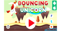 Unicorn bouncing html5 capx game