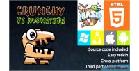 Vs crunchy monsters phaser game html5