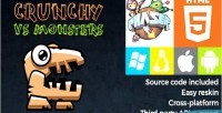 Vs crunchy monsters phaser game html5