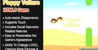 Vulture flappy html5 game