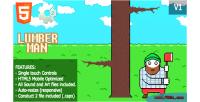 Wood lumberman chopping game