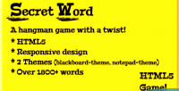 Word secret a game hangman