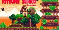 Zenko kitsune adventure game platform html5