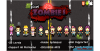 Zombies pixel game html5