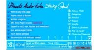 Audio ultimate grid sticky video