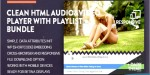 Bundle clean html audio video player youtube playlist w