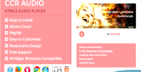 Ccr audio html5 responsive playlist with player