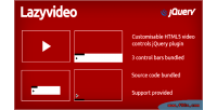 Customisable lazyvideo controls video html5 for