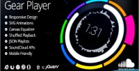 Html5 gear audio player
