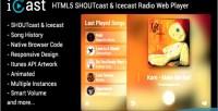 Html5 icast shoutcast player icecast web radio