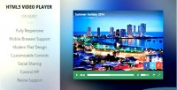 Html5 modern player video responsive
