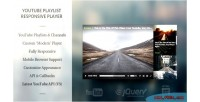 Html5 modern responsive player playlist youtube