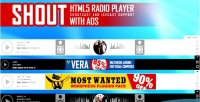Html5 shout radio player ads with shoutcast support icecast and