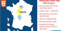 Map interactive html5 france of