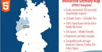 Map interactive html5 germany of