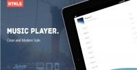 Music html5 player skin