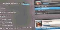 Music html5 playlist with player