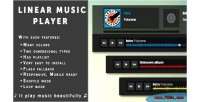 Music linear player waveform playlist with