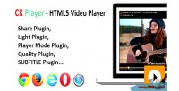 Player ck player video html5