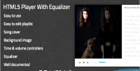Player html5 with equalizer