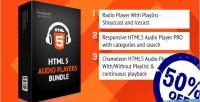 Reasponsive html5 bundle players audio