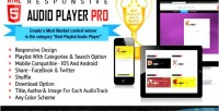 Responsive html5 audio player playlist with pro