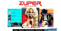 Shoutcast zuper & radio icecast history with player