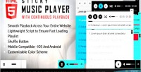 Sticky html5 music player playback continuous with