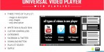 Universal video player youtube hosted self vimeo