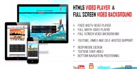 Video html5 player background video fullscreen